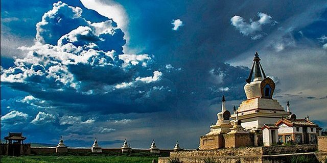 蒙古帝国首都哈勒和林遗址风景图片