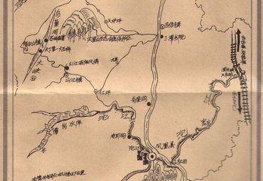 湖南凤凰古城手绘图