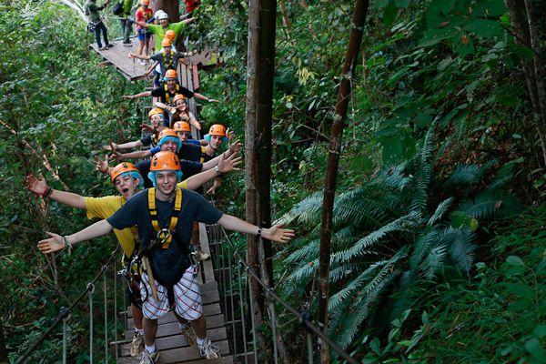 泰国清迈丛林飞跃jungle flight图片