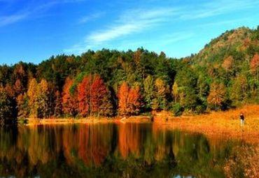 红枫湖是岛屿最多的高原岩溶湖泊, 湖中有岛 花溪公园 花溪公园,位于
