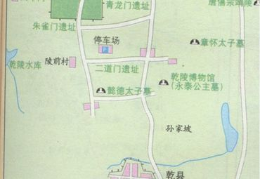 咸阳乾陵地图