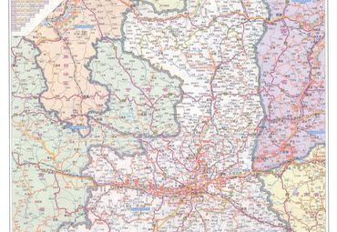 陕西省国省道路交通地图