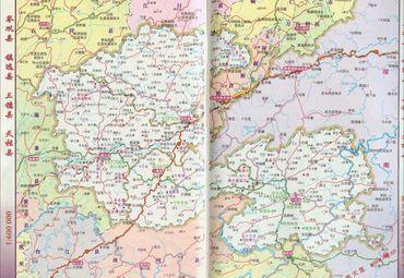 岑巩县,镇远县,三穗县,天柱县地图