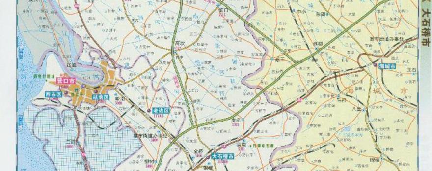 大石桥市卫星地图_营口市地图西市区展示_地图分享