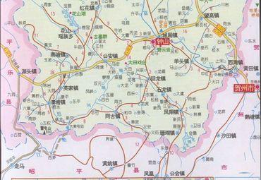 钟山风景名胜区地图