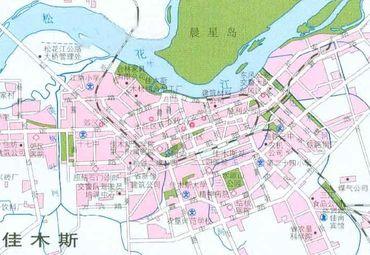 黑龙江省佳木斯旅游区地图