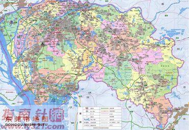 广东东莞地图