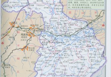黑龙江省鸡西市鸡东县地图