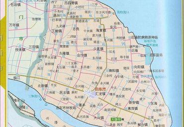 江苏南通启东市地图