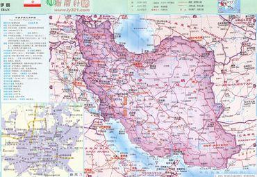亚洲伊朗地图