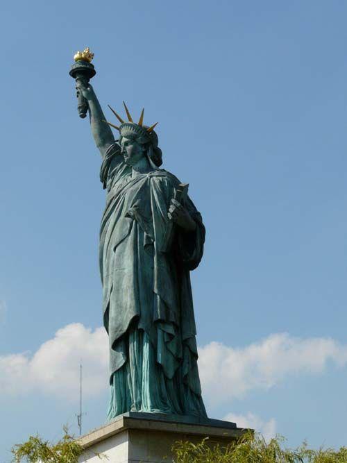 欧洲 法国 巴黎 巴黎自由女神像