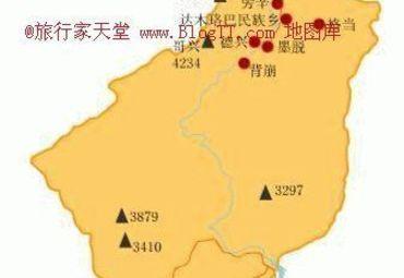 西藏墨脱县地图