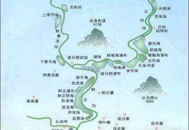 四川九寨沟导游图