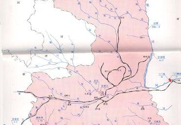 陕西省铁路交通地图