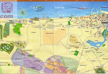 迪拜旅游地图