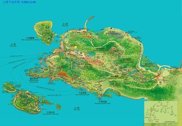 太湖旅游地图图片