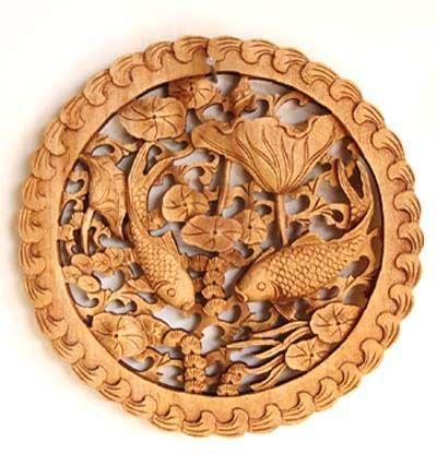 木雕饰品铅笔手绘