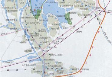 江西九江市区地图