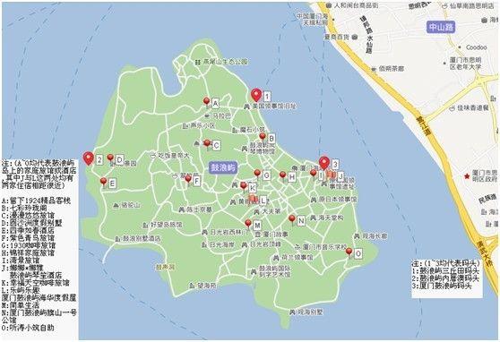厦门鼓浪屿地图