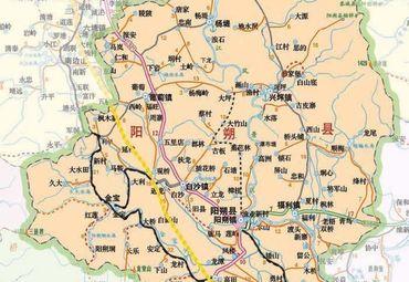 广西桂林阳溯县导游图.