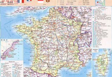 【法国地图中文版】_全图/查询