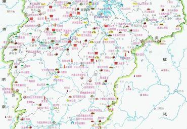 江西省旅游地图