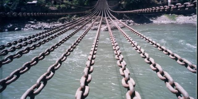 泸定桥风景图片