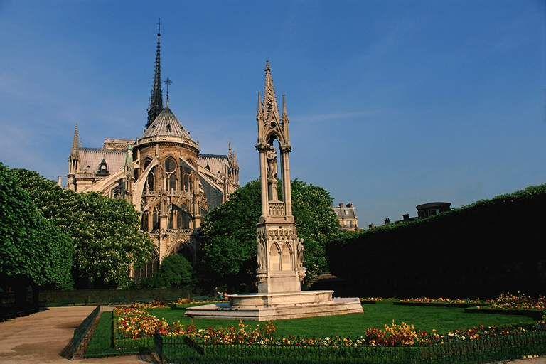 巴黎圣母院旅游 图 巴黎圣母院俯瞰 途牛