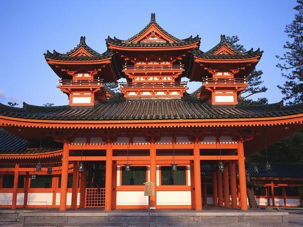 平安神宫旅游 图 平安神宫旁的小道 途牛