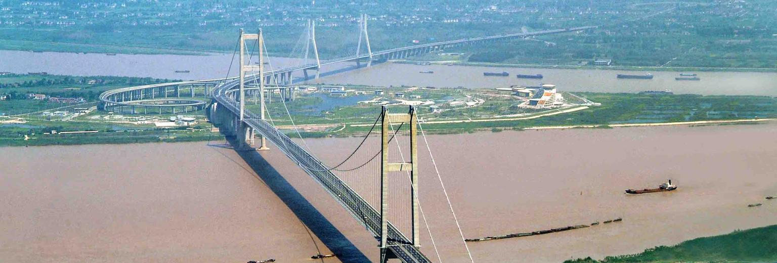 长江大桥儿童画
