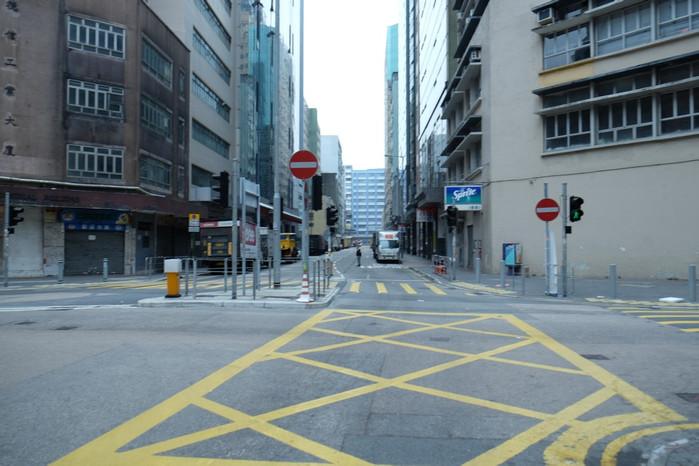 香港居民区的街道