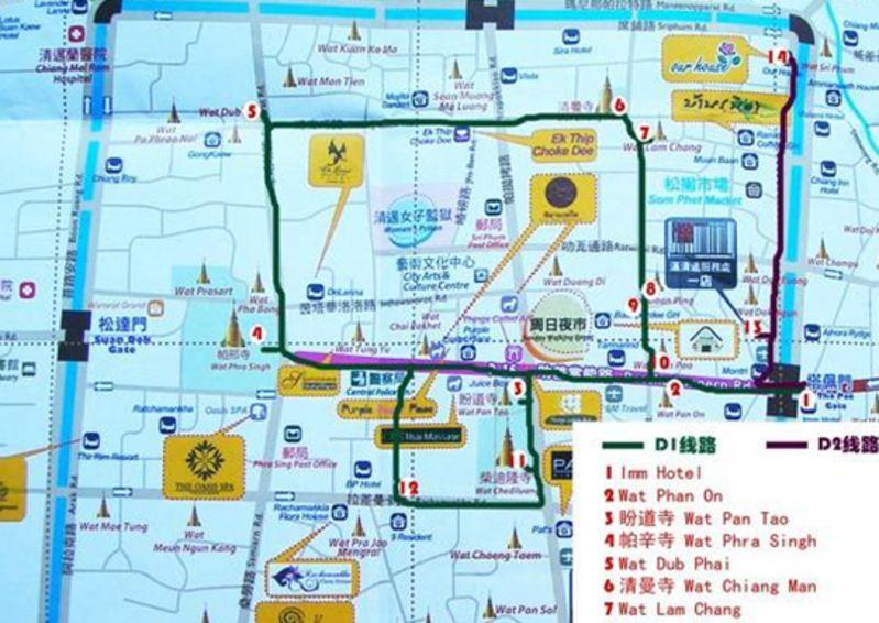 泰国清迈旅游景点地图_视觉的盛宴_泰国清迈旅游景点