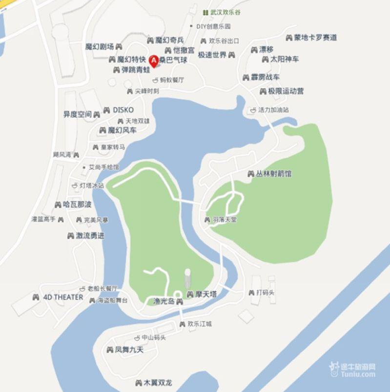 武汉欢乐谷园内地图_武汉欢乐谷园地图_武汉欢乐谷园布局图片