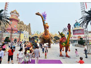 常州中华恐龙园二进园-梦幻庄园-赠送恐龙人打击秀游