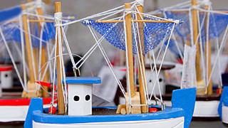 手工木帆船