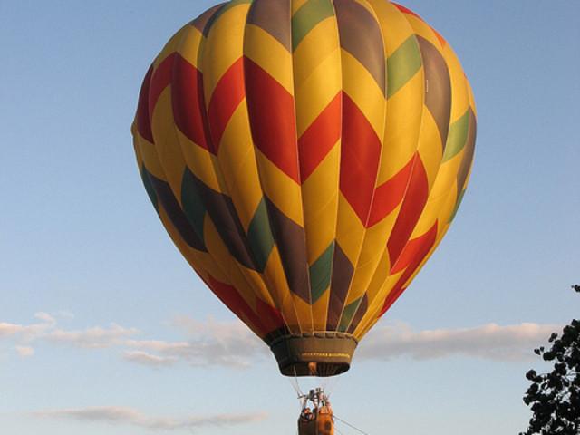 热气球俯瞰图片
