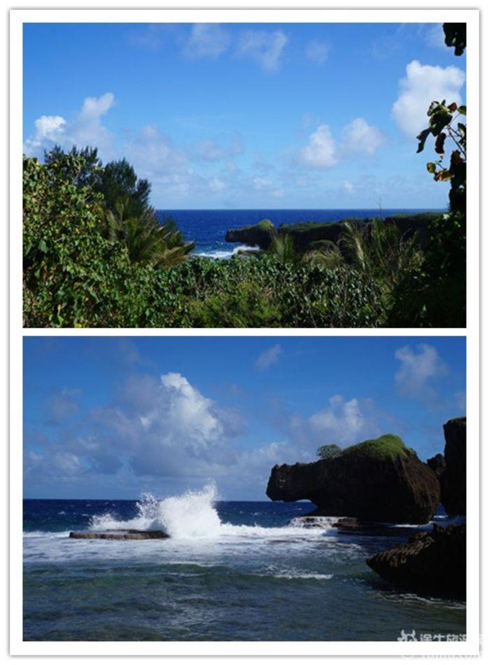 侧面海,和鳄鱼滩差不多,石头像人侧脸而已.