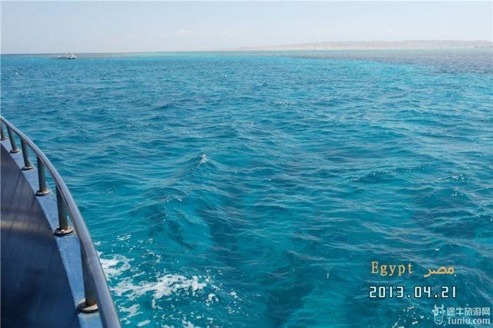 在红海度假村休整一晚后,早上退房,登上玻璃船,让我们和海底珊瑚还有
