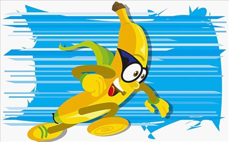 香蕉画图片