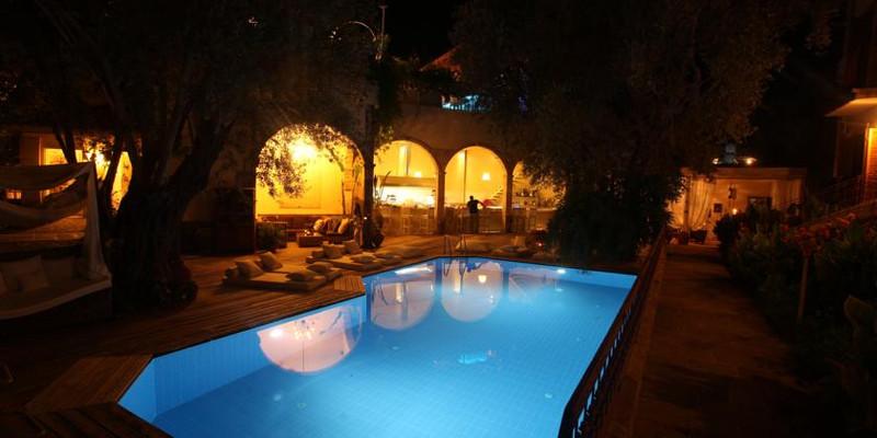 夜晚酒店图片素材