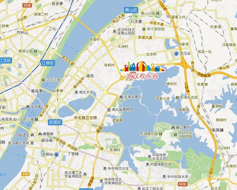 武汉欢乐谷地址与交通信息_武汉欢乐谷地址_武汉欢乐谷交通信息图片