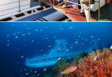 韩国济州岛潜水艇图片