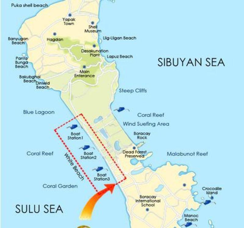 长滩岛地图_长滩岛旅游地图_长滩岛酒店地图