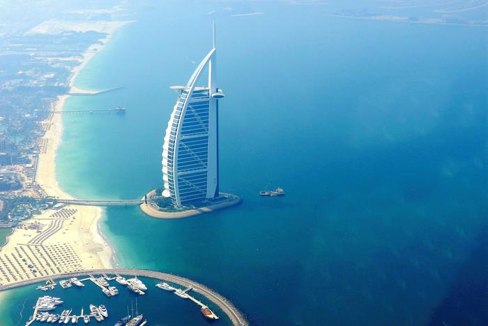 飞上天空  居高临下  鸟瞰迪拜【多图】_朱美拉棕榈岛游记