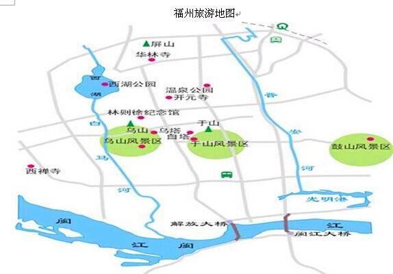 福州旅游地图_福州旅游介绍_福州旅游景点推荐_福州景点地图