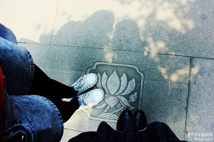 脚踩莲花,多吉祥如意.