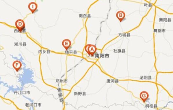 南阳旅游地图_南阳旅游路线_南阳旅游攻略    b,七十二潭 地址:河南省