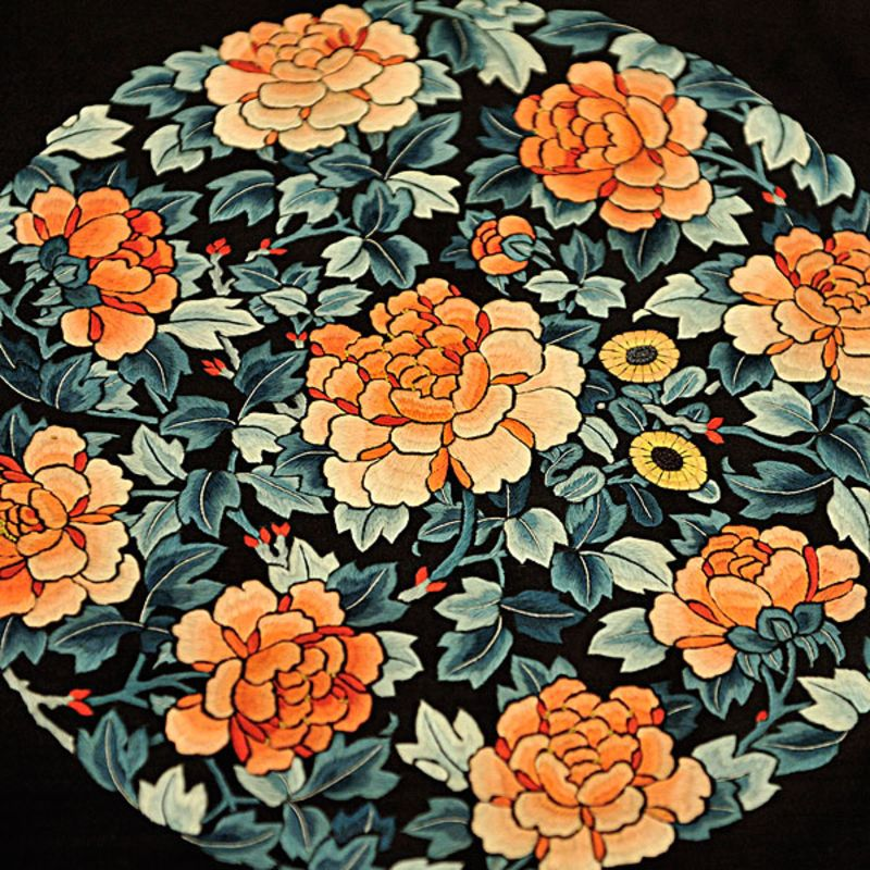 手绘刺绣素材花