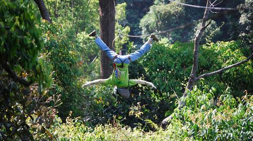 泰国清迈丛林飞跃探险1日游>专业的团队刺激的玩法(当地游)图片