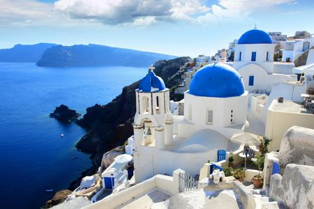 <希腊圣托里尼+天空之城8日7晚游>雅典集散、伯罗奔尼撒、圣托里尼OIA、天空之城梅黛奥拉(当地参团)